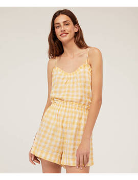 Short Amarillo Vichy by Oysho