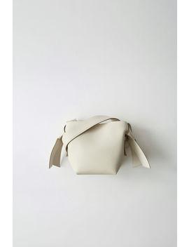 Kleine Lederhandtasche Weiß/Sand Beige by Acne Studios