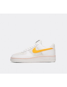 Womens Air Force 1 Low Trainer | White / Total Orange by Nike