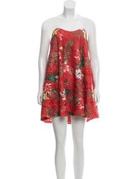 Guipure Lace Mini Dress by Caroline Constas