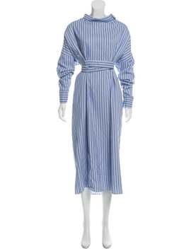 Striped Midi Dress by Tibi