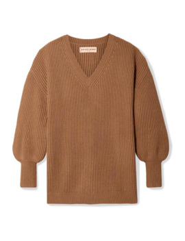 Napoli Oversized Ribbed Cotton And Cashmere Blend Sweater by Apiece Apart