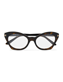 Cat Eye Tortoiseshell Acetate Optical Glasses by Tom Ford