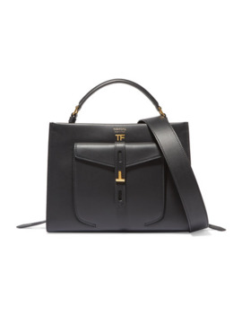 T Twist Small Textured Leather Shoulder Bag by Tom Ford