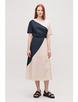 Slanted Seam Contrast Skirt by Cos