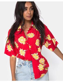 Hawaiian Shirt In Sunny Days Red By Motel by Motel