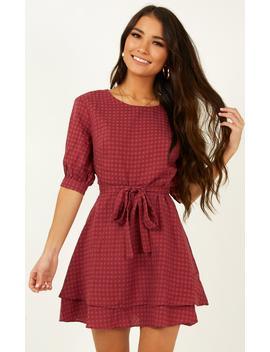 Constant Search Dress In Plum by Showpo Fashion