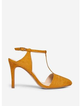 Yellow 'Empire' Court Shoes by Dorothy Perkins