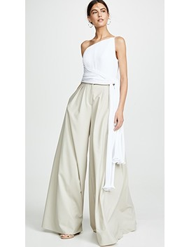 Asymmetric Pleated Top With Side Drape by Brandon Maxwell