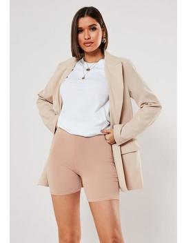 Nude Jersey Cycling Shorts by Missguided
