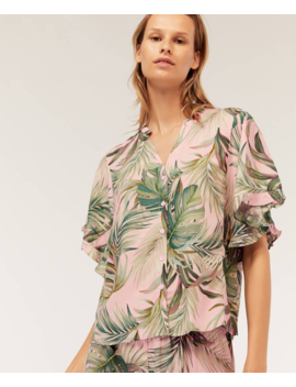 Camisa Tropical Fondo Rosa by Oysho