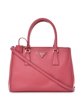 Prada Saffiano Small Galleria Double Zip Tote Tamaris by Prada