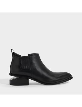 Mid Heeled Kori Ankle Boots In Black Calfskin by Alexander Wang
