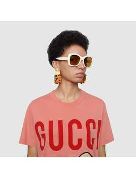 T Shirt With Gucci Lamb by Gucci