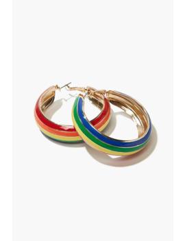 Colorblock Hoop Earrings by Forever 21
