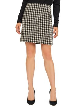 Straight Woven Bouclé Skirt by Suzy Shier