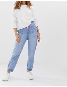 Bershka – Blaue Jeans Jogginghose by Asos