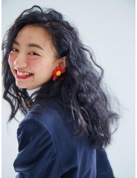 Red Flower Earrings by Fruta