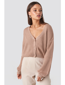 Volume Sleeve Cardigan Pink by Na Kd