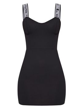 Prettylittlething Black Strappy Cup Detail Bodycon Dress  by Prettylittlething