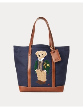 Canvas Big Polo Bear Tote by Ralph Lauren