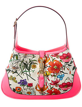 Gucci Jackie Medium Flora Canvas & Leather Hobo Bag by Gucci