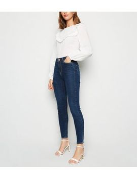 Blue Rinse Wash 'lift & Shape' Skinny Jeans by New Look