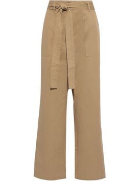 Gunel Belted Cotton Twill Wide Leg Pants by Iris & Ink