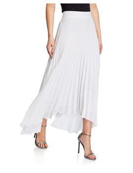 Maxine Plisse Handkerchief Hem Skirt by Ramy Brook