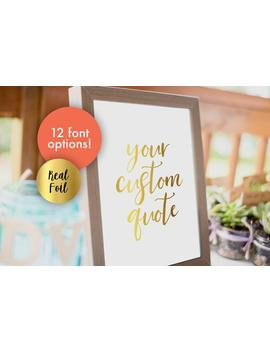Personalised Gold Foil Print, Foil Quote Print, A3 Foil Print, Gold Foiled Wall Art, Foil Poster Quirky Art by Etsy