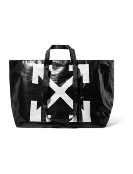 Commercial Printed Textured Shell Tote by Off White
