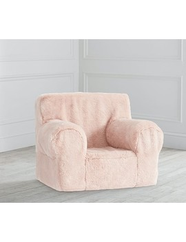 Blush Peony Faux Fur Anywhere Chair® by Pottery Barn Kids