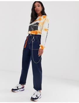 Asos Design – Combat Hose Im Stil Der 90er Mit Kette Und Neondetails by Asos