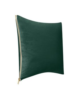 "Better Homes & Gardens Feather Filled Velvet & Gold Zipper Decorative Throw Pillow, 18""X18"" by Better Homes & Gardens"