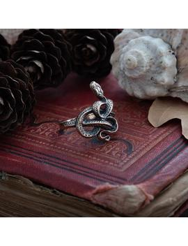 Handmade Snake Ring, Elegant Ring, Gift For Her, Jewelry For Her, Silver Or Bronze, Handmade, Viper, Serpent, Cobra, Reptile by Etsy