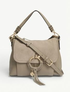 Joan Leather Suede Shoulder Bag by See By Chloe