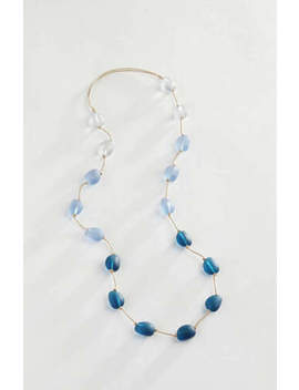 J. Jill   Indigo Seaglass Station Necklace   Nwt by J. Jill