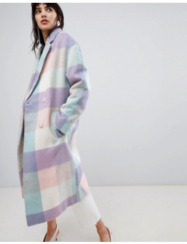 Asos Design – Karierter Oversized Mantel by Asos
