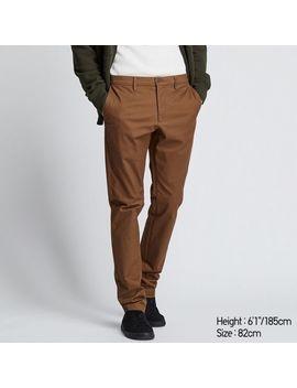 Men กางเกง ผ้าชิโน่ ทรงเข้ารูป by Uniqlo