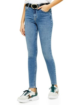 Jamie Moto High Waist Ankle Jeans by Topshop