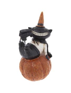 Black Cat On Pumpkin by Hobby Lobby