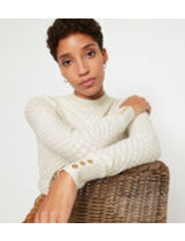 Wave Pointelle Jumper by Warehouse