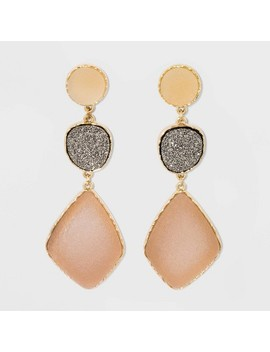 Sugarfix By Bauble Bar Multi Tone Tiered Druzy Drop Earrings   Blush Pink by Tone Tiered Druzy Drop Earrings