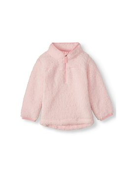 Wonder Nation Mock Neck Quarter Zip Boucle Lined Sherpa Jacket (Toddler Girls) by Wonder Nation
