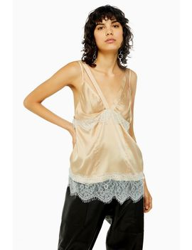 Nude Lace Panel Cami by Topshop