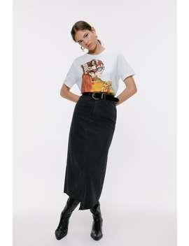Front Print T Shirt Graphics & Slogans T Shirts Woman by Zara