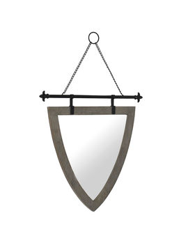 "Shield Shaped Hanging Wall Mirror, 23"" X 34""Shield Shaped Hanging Wall Mirror, 23"" X 34"" by At Home"