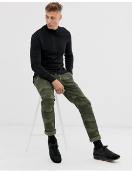 New Look   T Shirt Met Col En Lange Mouwen In Zwart by New Look