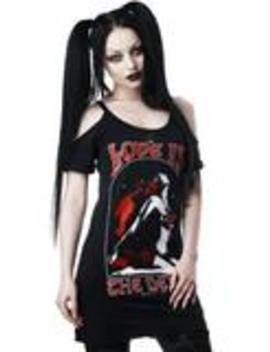 Love Devil Distress Top by Killstar