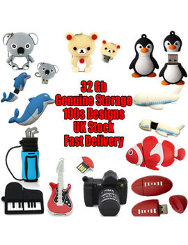 Novelty 32 Gb Usb Flash Drives Cute Animal Shaped Memory Sticks Cool Gifts by Ebay Seller